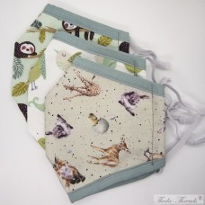 [SOLD] Cute Animals! -  Set of 3 Trilayer Fabric Face Covering