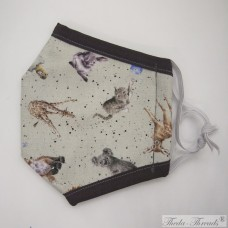 Cute Animals! - Trilayer Fabric Face Covering