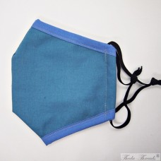 Turquoise and Blue - Trilayer Fabric Face Covering
