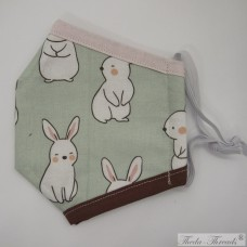 Bunnies! - Trilayer Fabric Face Covering