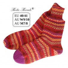 Feuer! Knitted Woollen Socks with Snug Fit Cuff EU40/41 AUW9/10 AUM7/8