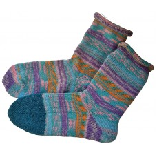 AU Wm 8/8.5, AU M7 Rolltop Knitted Wool Socks, EU Size 39
