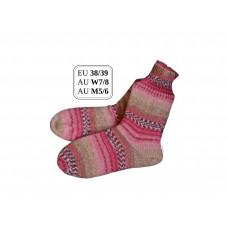 Red Cabbage! EU Size 38/39, AU W7/8 AU M5/6 Snug Fit Cuff Wool Socks