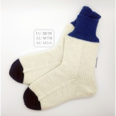 Tennis! EU Size 38/39, AU W7/8 AU M5/6 Snug Fit Cuff Knitted Wool Socks