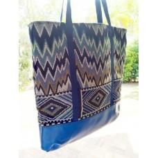 Zig Zagged in Blue - Market Bag!