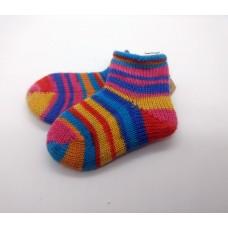 Colourful Rolltop Knitted Woollen Socks